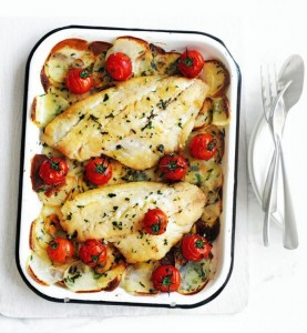 Grilled Snapper with Cherry Tomatoes
